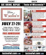 1221 print graphics, event marketing - Taste of Wisconsin